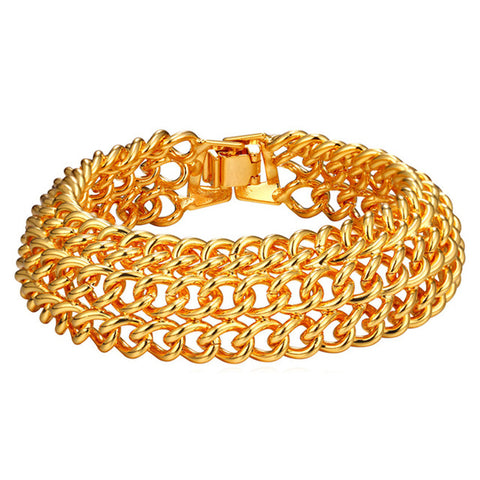 chunky chain link statement bracelet for women