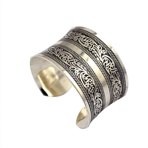 ethnic cuff bracelet statement for women