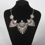 big gem crystal statement pendant choker necklace for women