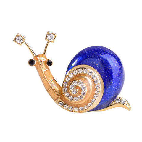 cute orange enamel snail shape brooch pin for women