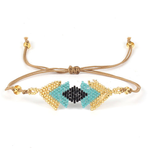 bohemian handmade love beads weave bracelet for women