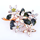 colorful crystal wishing tree large scarf pin brooch for women