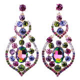 luxury austrian crystal drop earrings for women
