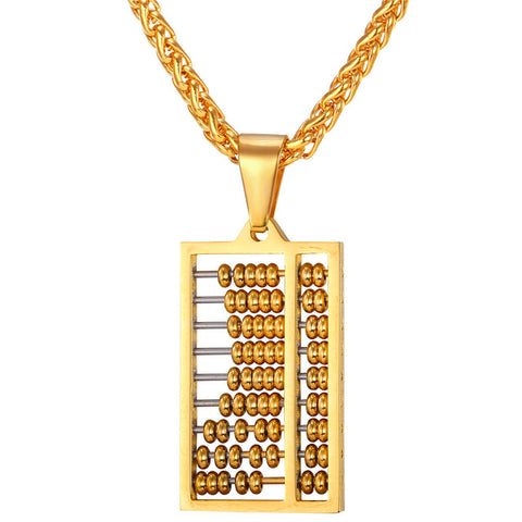 hip hop ancient china counting-frame necklace & pendant