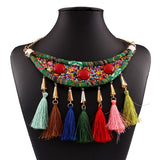 ethnic woven choker statement maxi necklace for women