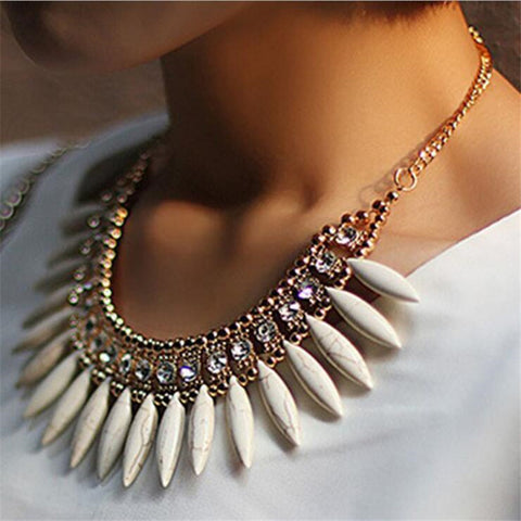 crystal choker statement necklace & pendant for women
