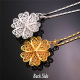 exquisite flower charm necklace for women