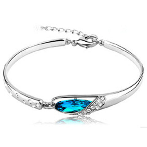 classic rhinestone crystal bangle bracelet for women