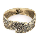 wide leave cuff bracelet & bangle for women