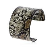snake scale design pu leather cuff bracelet
