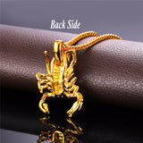 cool stainless steel scorpion necklace & pendant for men