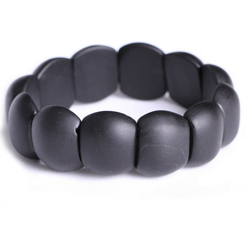 real black bianshi natural bian stone bracelet