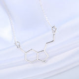 chemistry geometric polygon pendant necklace - very-popular-jewelry.com
