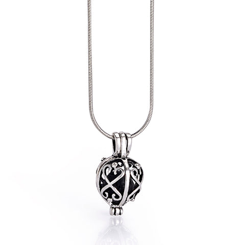 lava stone oil diffuser hollow locket pendant necklace