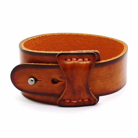 retro wide leather cuff bracelet for men