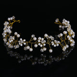 irregular simulated pearl beads women tiara hair jewelry