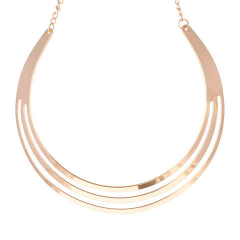 metal multi layer statement bib collar necklace for women