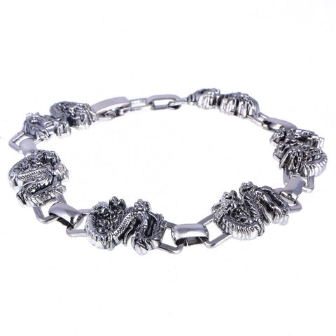 stainless steel dragon shape bracelet for men