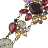 vintage colorful rhinestone bracelet for women