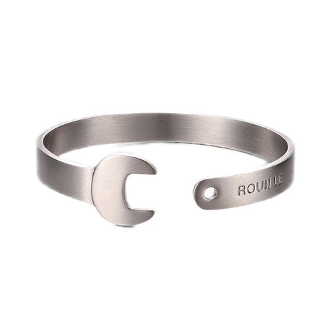 mechanical wrench cuff bracelet for men