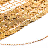 gold/silver plated full coin chain bra body jewelry for women