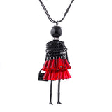 doll charm choker long necklace & pendant for women - very-popular-jewelry.com