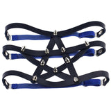 gothic garter belt leg harness leather anklet for women