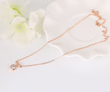 gold color water drop crystal pendant necklace for women