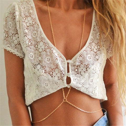 sexy waist belly chain body necklace for women
