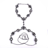 crystal choker maxi chain statement necklace