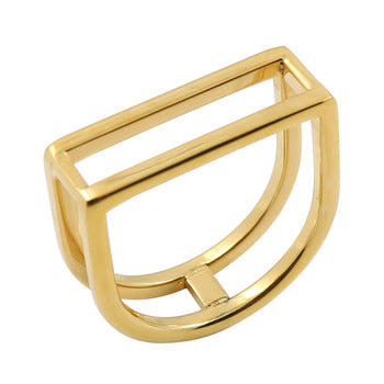 punk style gold color ring for women