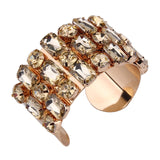 luxury shinning acrylic cuff bangle bracelet for women