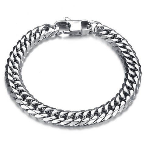punk style stainless steel chain bracelet & bangle for men