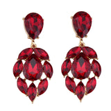 luxury hollow glass drop dangle earrings for women