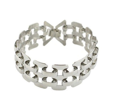 Hip Hop style silver color bracelet for women