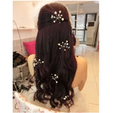 6 pieces elegant simulated pearl branch hair pin for women