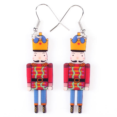 cute long acrylic british guards drop earrings for women