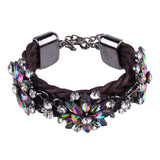 bohemian multicolored glass charm bracelet for women