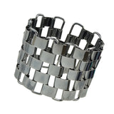multilayered square alloy chain big size bangle & bracelet