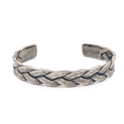 silver color braiding stainless steel wires cuff bracelet