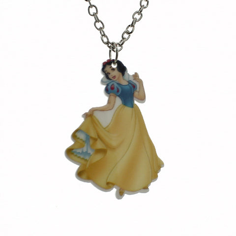 princess pendant chain necklace for kids