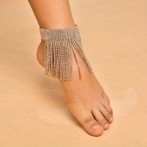 bohemian rhinestone crystal anklet for women