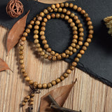 tibetan sandalwood prayer mala beaded bracelet