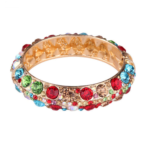 bohemian colorful glass bracelet bangle for women