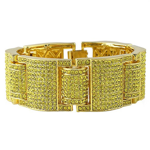 hip hop style gold color full rhinestone crystal bangle bracelet