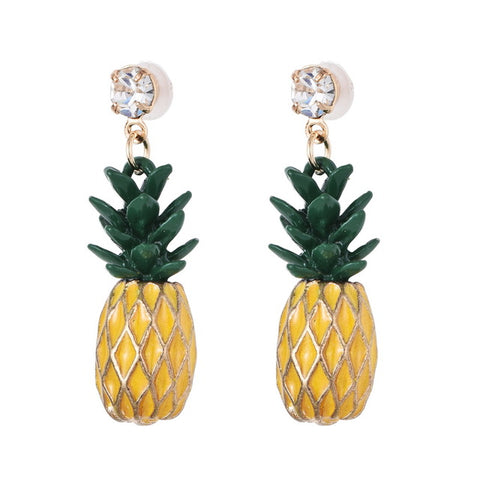 Cute Yellow Pineapple drop Earrings