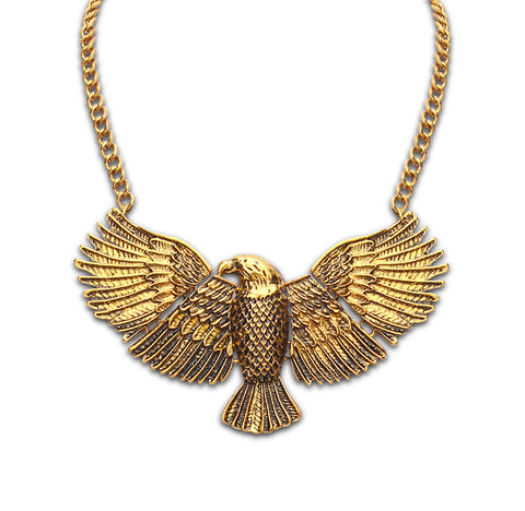 eagle shape statement necklace & pendant for women