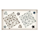 trendy geometric box pattern temporary tattoo sticker