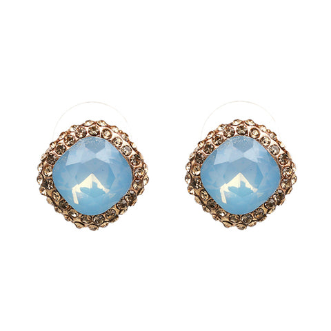 vintage design small crystal stud earrings for women