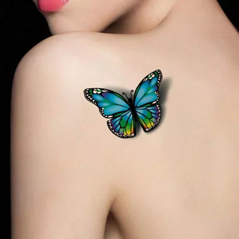 3d colorful butterfly pattern temporary tattoo sticker